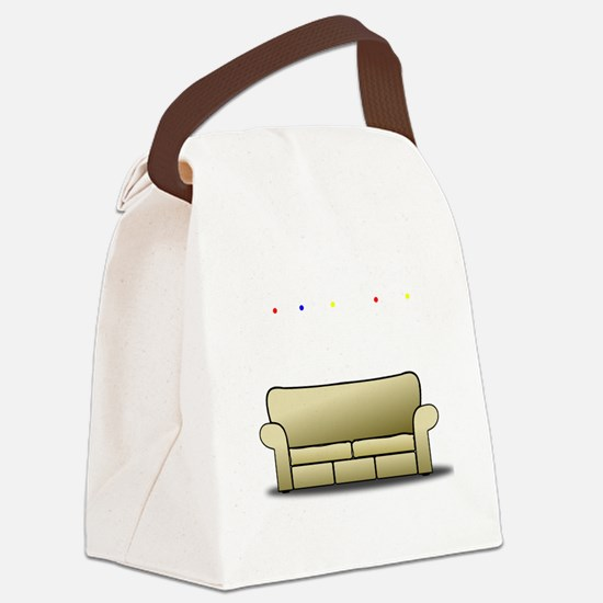 pivot white Canvas Lunch Bag