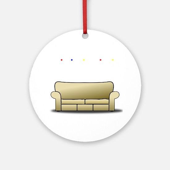 pivot white Round Ornament