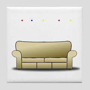 pivot white Tile Coaster