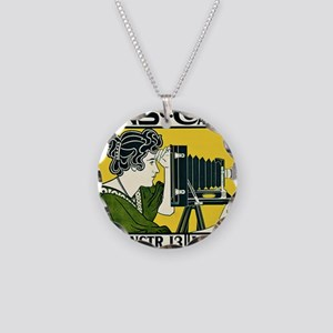 Vintage Camera Necklace Circle Charm