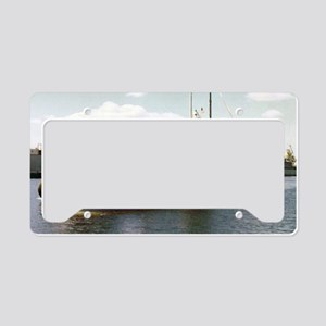 jadams large framed print License Plate Holder