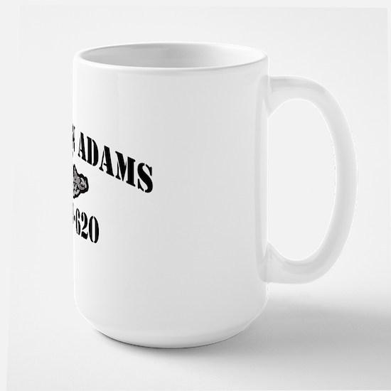 jadams black letters Large Mug