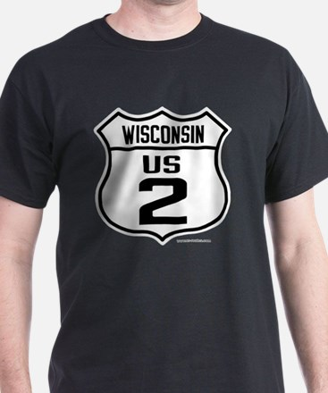 US Route 2 - Wisconsin - T-Shirt