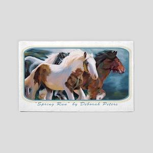 Horse Art II 3'x5' Area Rug