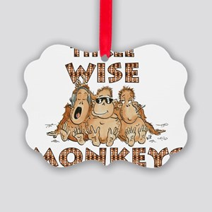 Three Wise Monkeys Picture Ornament
