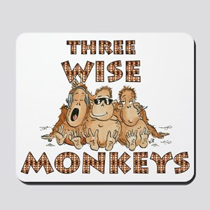 Three Wise Monkeys Mousepad