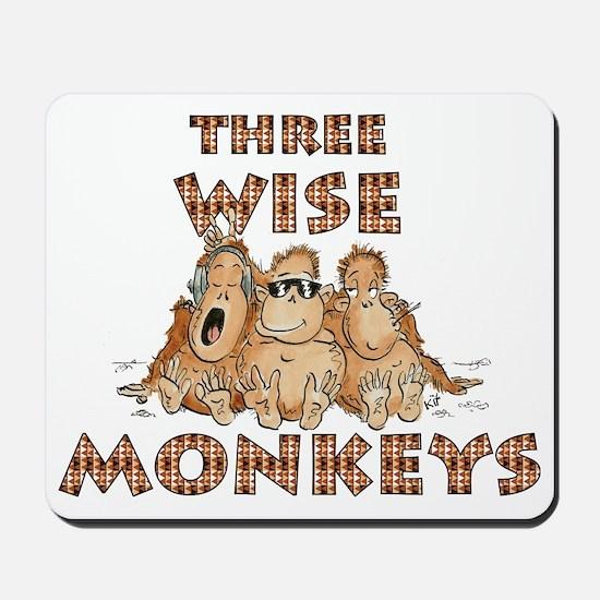 Three Wise Monkeys Mousepad