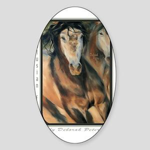 Horse Art I Sticker (Oval)