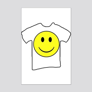 Happy Face T in a T Mini Poster Print
