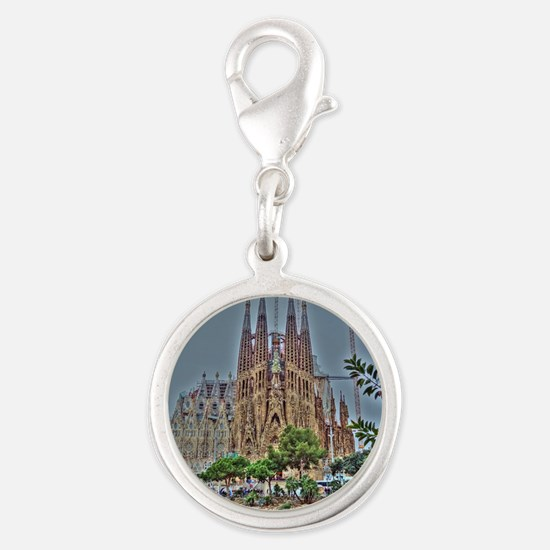 Barcelona Silver Round Charm