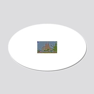 Barcelona 20x12 Oval Wall Decal