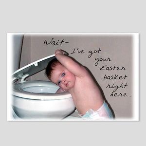 Toilet Easter Basket Postcards (Package of 8)