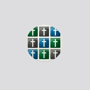 jan12_cross_grid_darker Mini Button