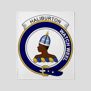Haliburton Clan Badge Throw Blanket