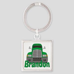 brandon-b-trucker Square Keychain