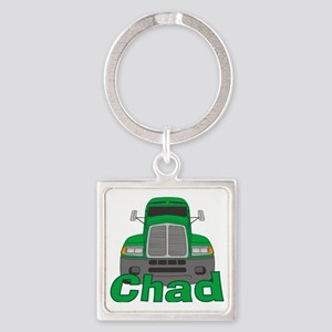 chad-b-trucker Square Keychain