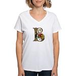 Celtic Art Initial B Women's V-Neck T-Shirt
