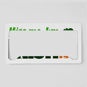 Kiss Me Im Irishish Green Hea License Plate Holder