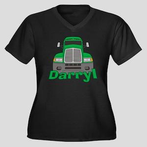darryl-b-tru Women's Plus Size Dark V-Neck T-Shirt