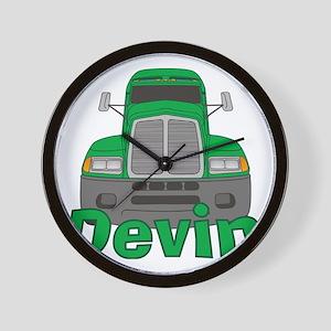devin-b-trucker Wall Clock