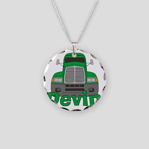 devin-b-trucker Necklace Circle Charm