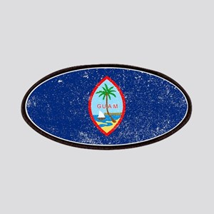 Grunge Flag Of Guam Patch
