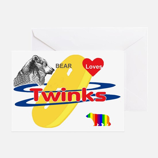 Bear Loves Twinks Greeting Card