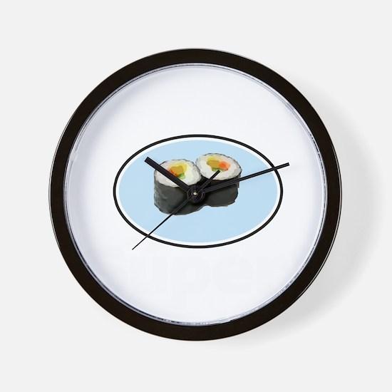 Sushi 2 Wall Clock