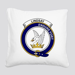 Lindsay Clan Badge Square Canvas Pillow