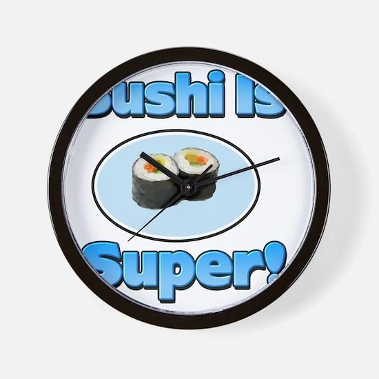 Sushi 3 Wall Clock