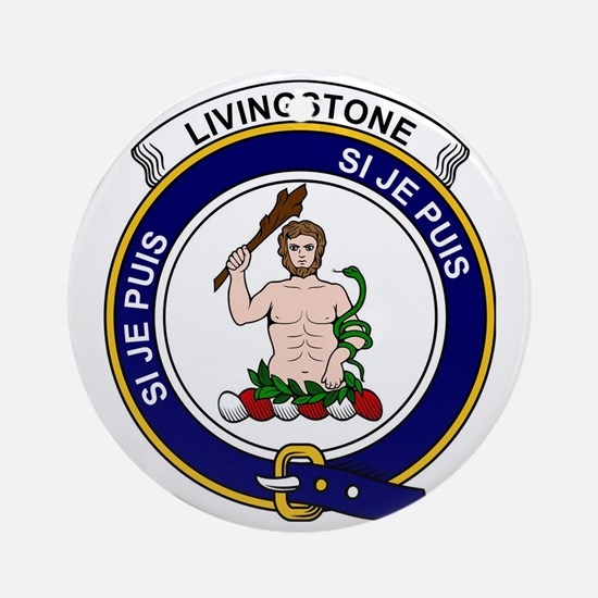 Livingstone Clan Badge Round Ornament
