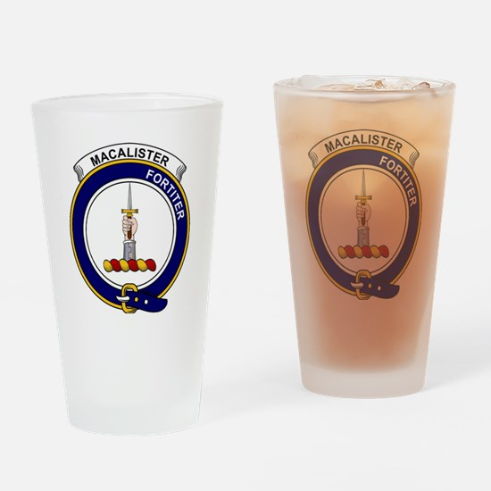 MacAlister Clan Badge Drinking Glass