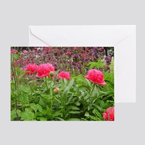 Peony Columbine and Lupine Greeting Card