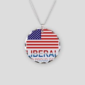Liberalproud Necklace Circle Charm