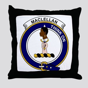 MacLellan Clan Badge Throw Pillow
