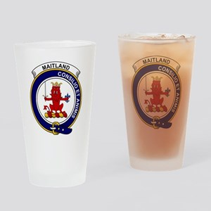 Maitland Clan Badge Drinking Glass