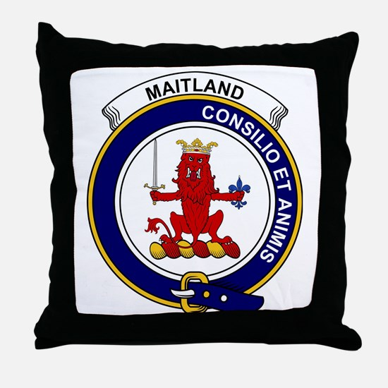Maitland Clan Badge Throw Pillow