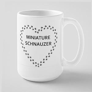 miniature schnauzer name heart Mugs