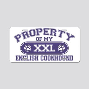 englishcoonhoundproperty Aluminum License Plate