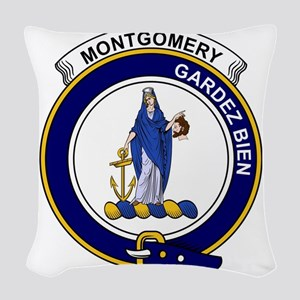 Montgomery Clan Badge Woven Throw Pillow