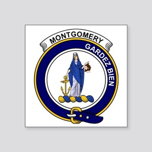 "Montgomery Clan Badge Square Sticker 3"" x 3"""