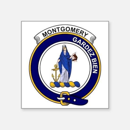 "Montgomery Clan Badge Square Sticker 3"" x 3"""