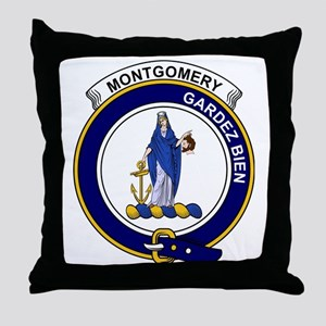 Montgomery Clan Badge Throw Pillow