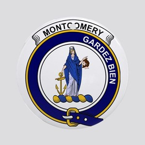 Montgomery Clan Badge Round Ornament