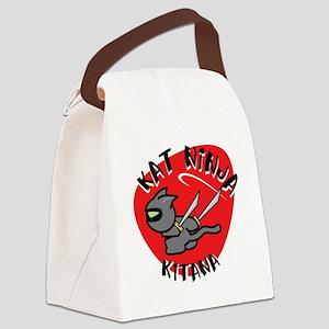 Kat Ninja Kitana Canvas Lunch Bag
