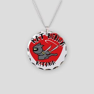Kat Ninja Kitana Necklace Circle Charm