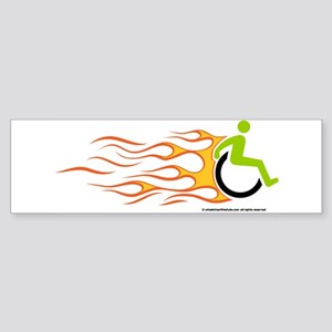 Wheelchair Flames for Him Bumper Sticker