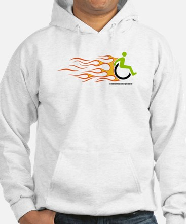 Wheelchair Flames for Him Hoodie