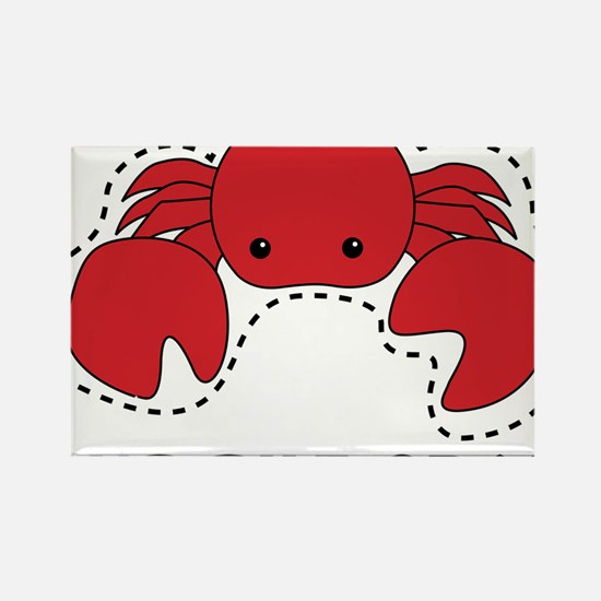 cut the crab Rectangle Magnet