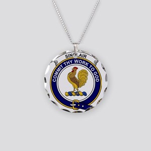 Sinclair Clan Badge Necklace Circle Charm